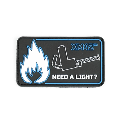 """NEED A LIGHT?"" PVC Patch"