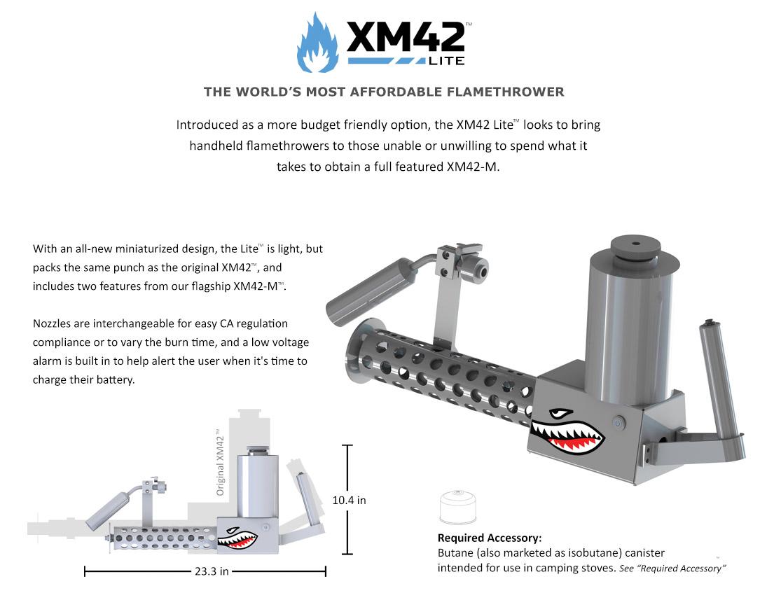 XM42 Lite Flamethrower - Black